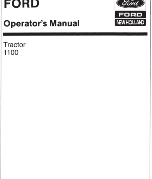 ford 600 tractor manual free download