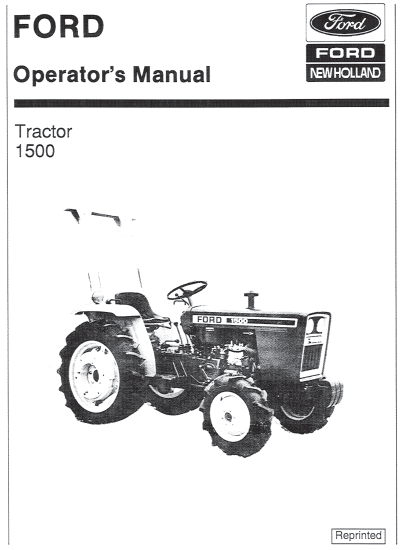 1979 Ford 1500 4 Wheel Drive Tractor : Ford tractor manual pdf farm manuals free