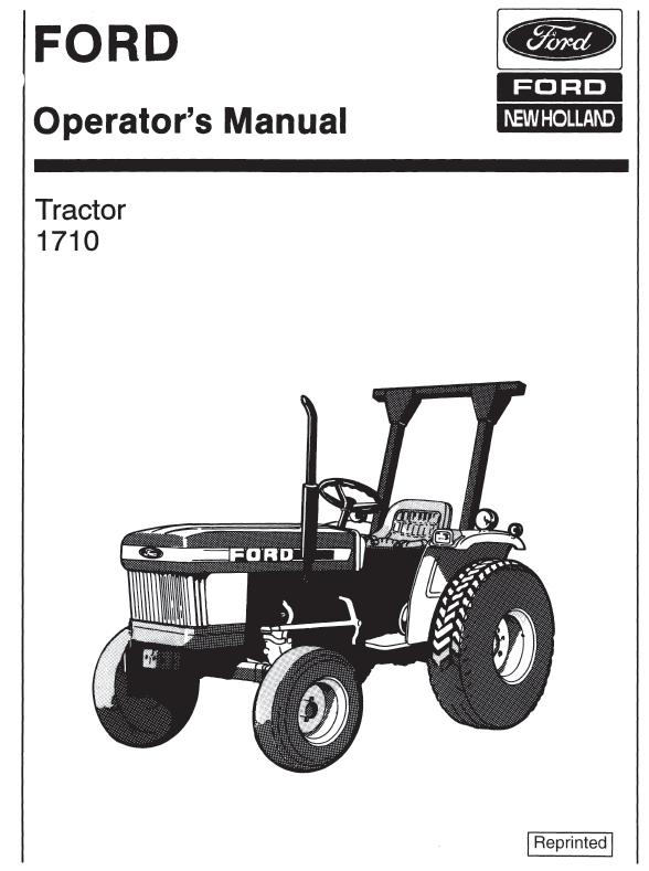 Ford 1710 Hydraulic System : Ford tractor manual pdf farm manuals free