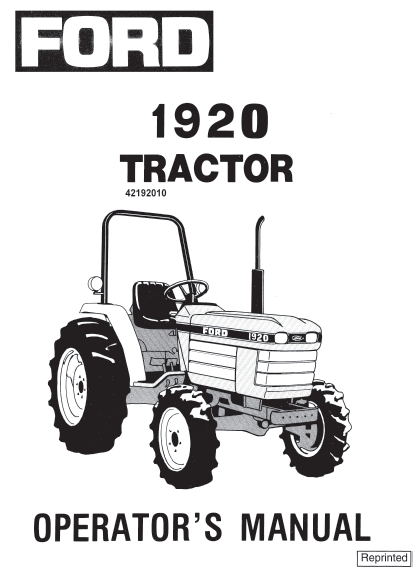 1920 tractor