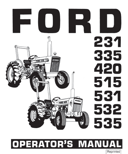 231 335 420 515 531 532 535 tractor