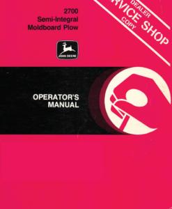 2700 moldboard plow