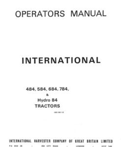 484 584 684 784 84 hydro trac man