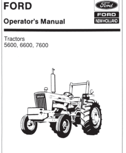 5600 6600 7600 tractor