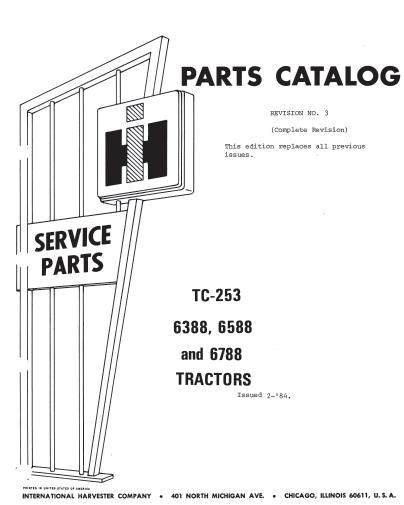 6388 6588 6788 parts cat