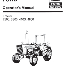 2600 3600 4100 4600 ford tractor