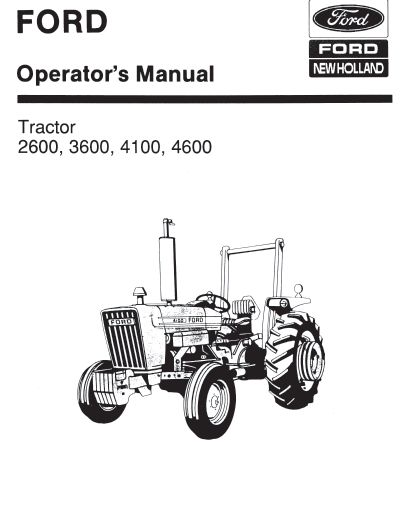 ford tractor schematics ford tractor ignition switch wiring ford 2600 3600 4100 4600 manual pdf 9.99 – farm manuals free #14