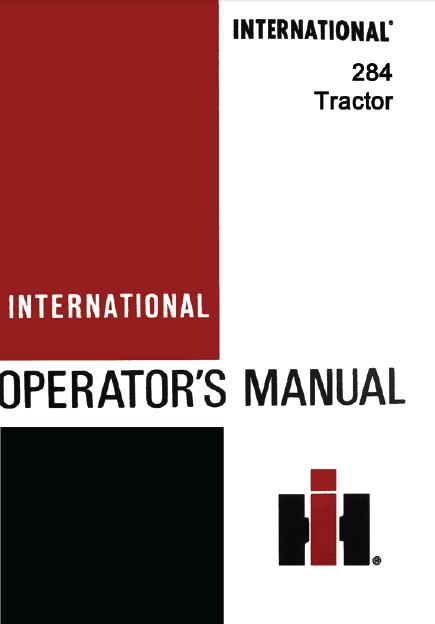 international 284 tractor manual pdf 9 99 farm manuals free rh farmmanualsfree com International 284 Tractor Parts International Harvester Tractors