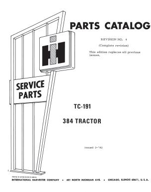 International 384 Parts Catalog Pdf 4 99