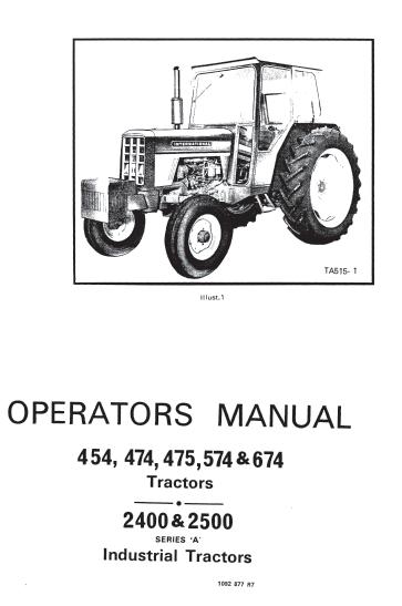 international 454 474 475 574 674 tractor 2400 2500 industrial rh farmmanualsfree com 454 International Tractor International 350 Tractor