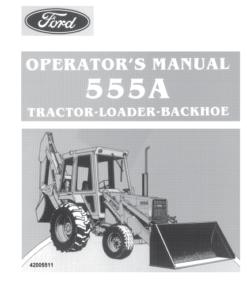555A ford bachkhoe