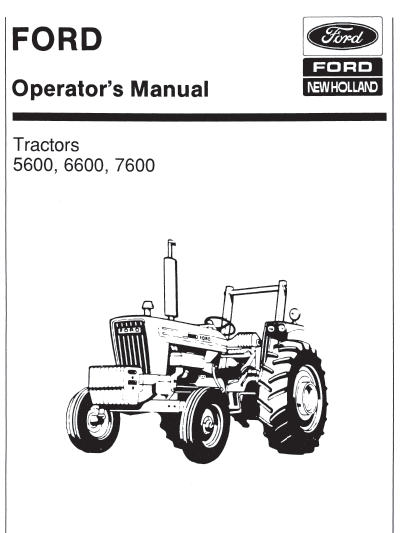 ford 5600 6600 7600 tractor manual pdf 9 99 farm manuals free rh farmmanualsfree com 7610 Ford Tractor Information Ford 8700 Tractor
