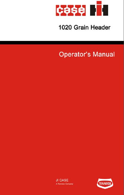 case ih 1020 flex header manual pdf 12 99 farm manuals free rh farmmanualsfree com Case IH 1680 1660 case ih combine manual